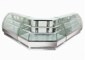 Kylmonter böjdglas,1500C, Kuchentheke